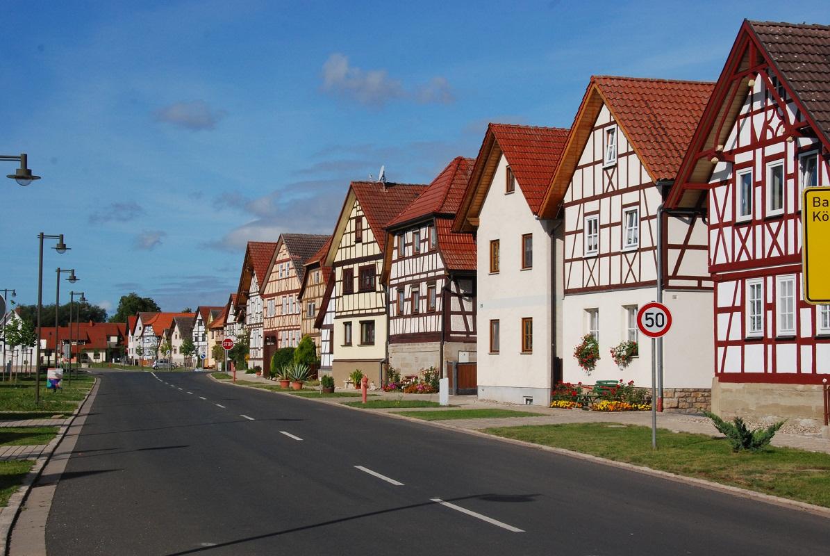 Häuserzeile in Eicha